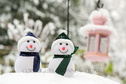Two Snowmen outdoor