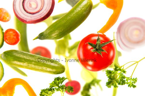 Floating vegetables