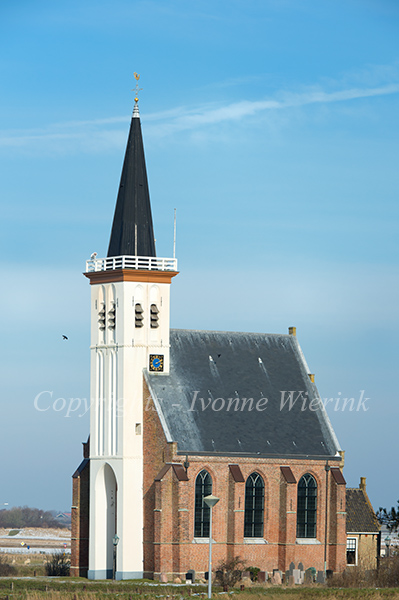 Church at the Dutch island Texel