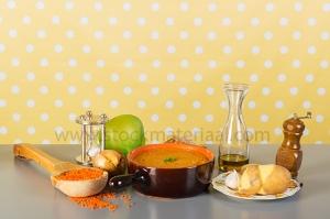 Vegetarian red lentil soup